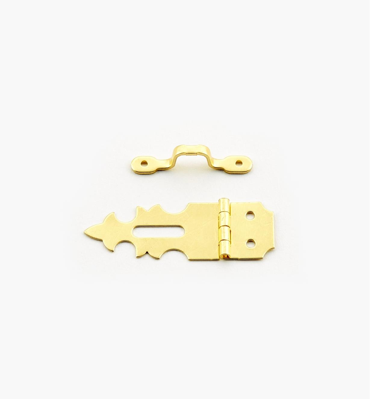 00D8055 - Narrow Single Hinge/Hasp & Staple, ea.
