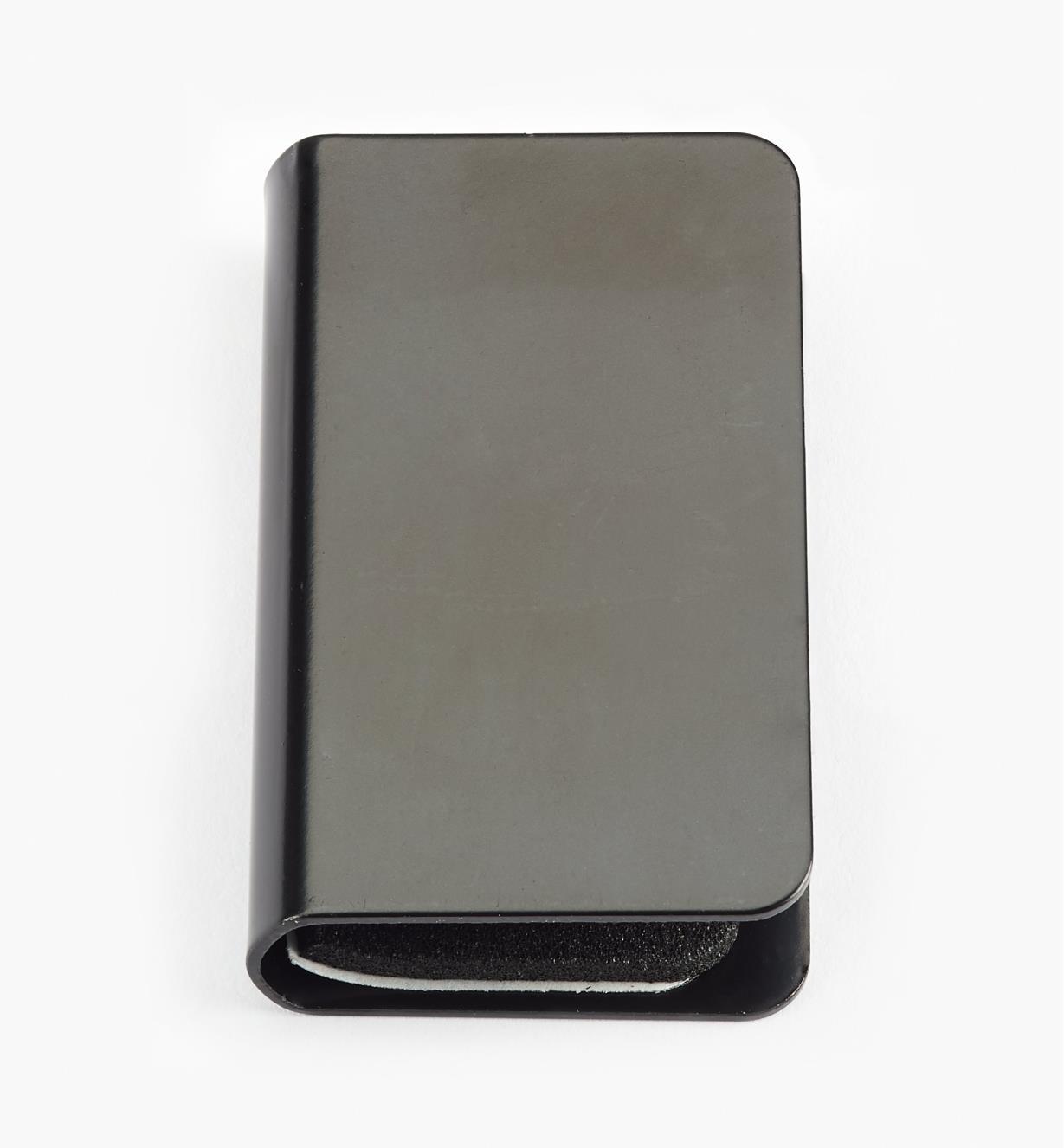 00W0303 - Fermeture à friction pour porte en verre, fini noir, l'unité