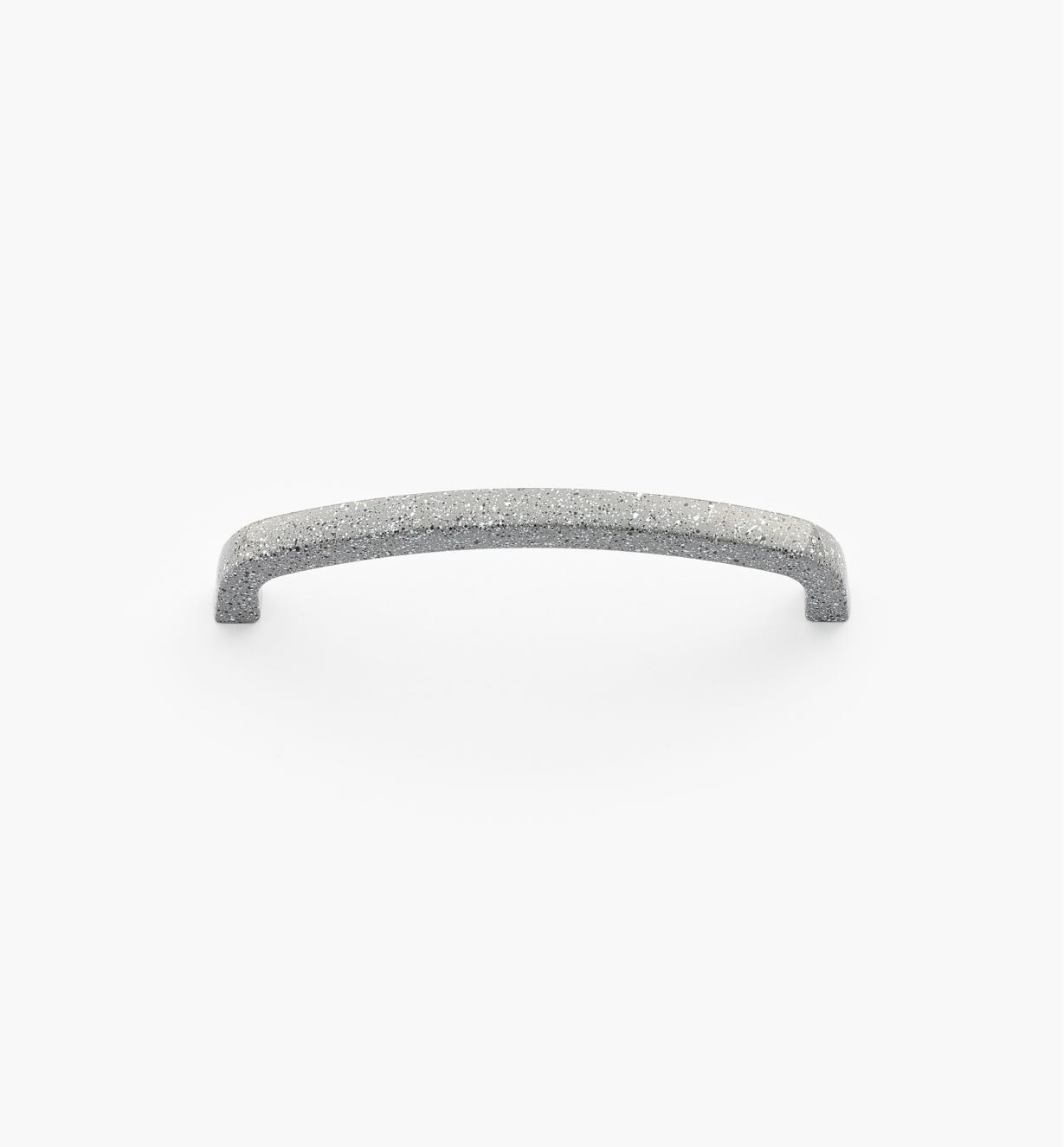 00W4522 - Poignée-fil carrée moulée sous pression, époxyde tacheté gris, 96 mm
