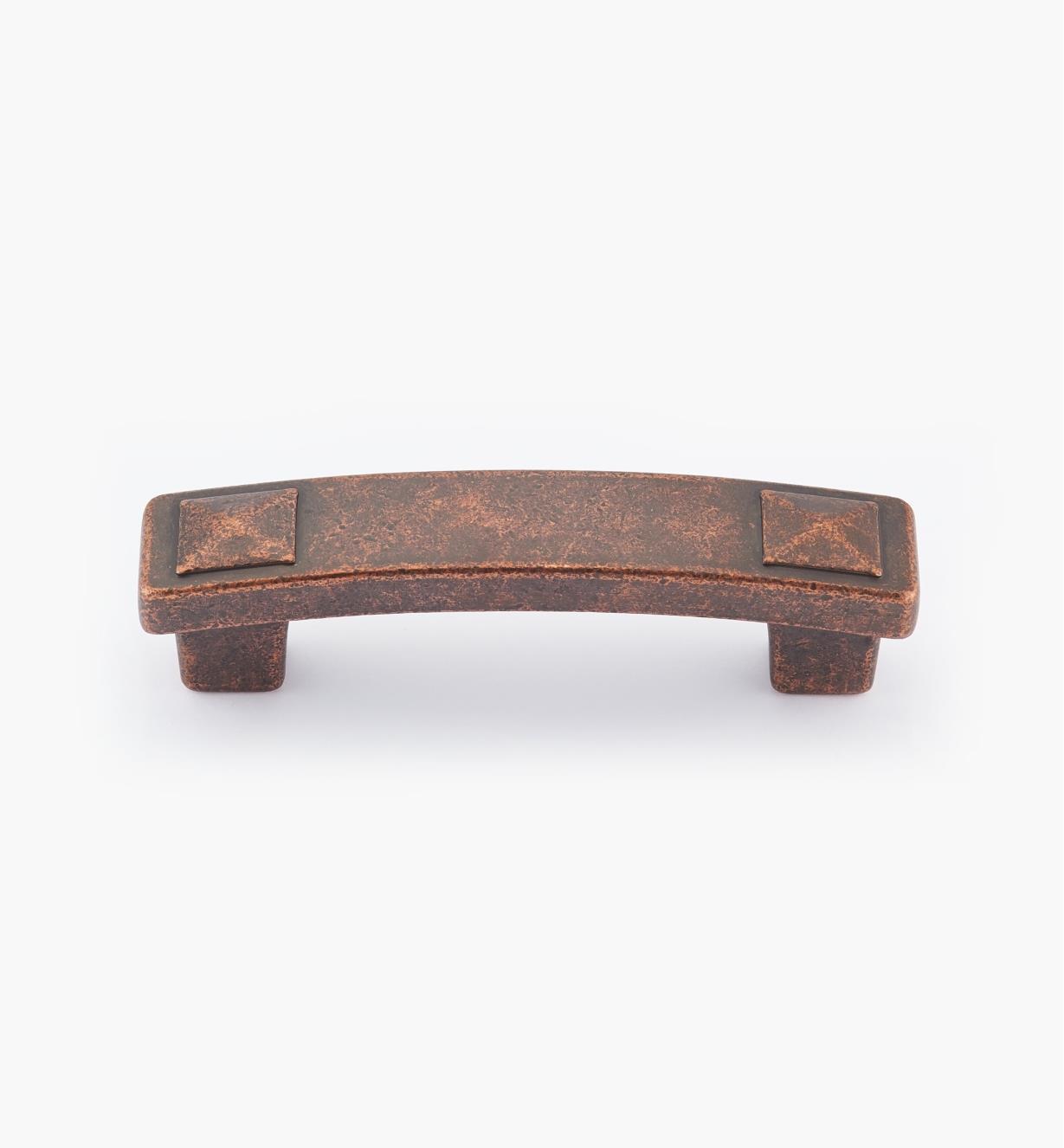02A0975 - Poignée rectangulaire Forgings, fini bronze cuivré, 4 po