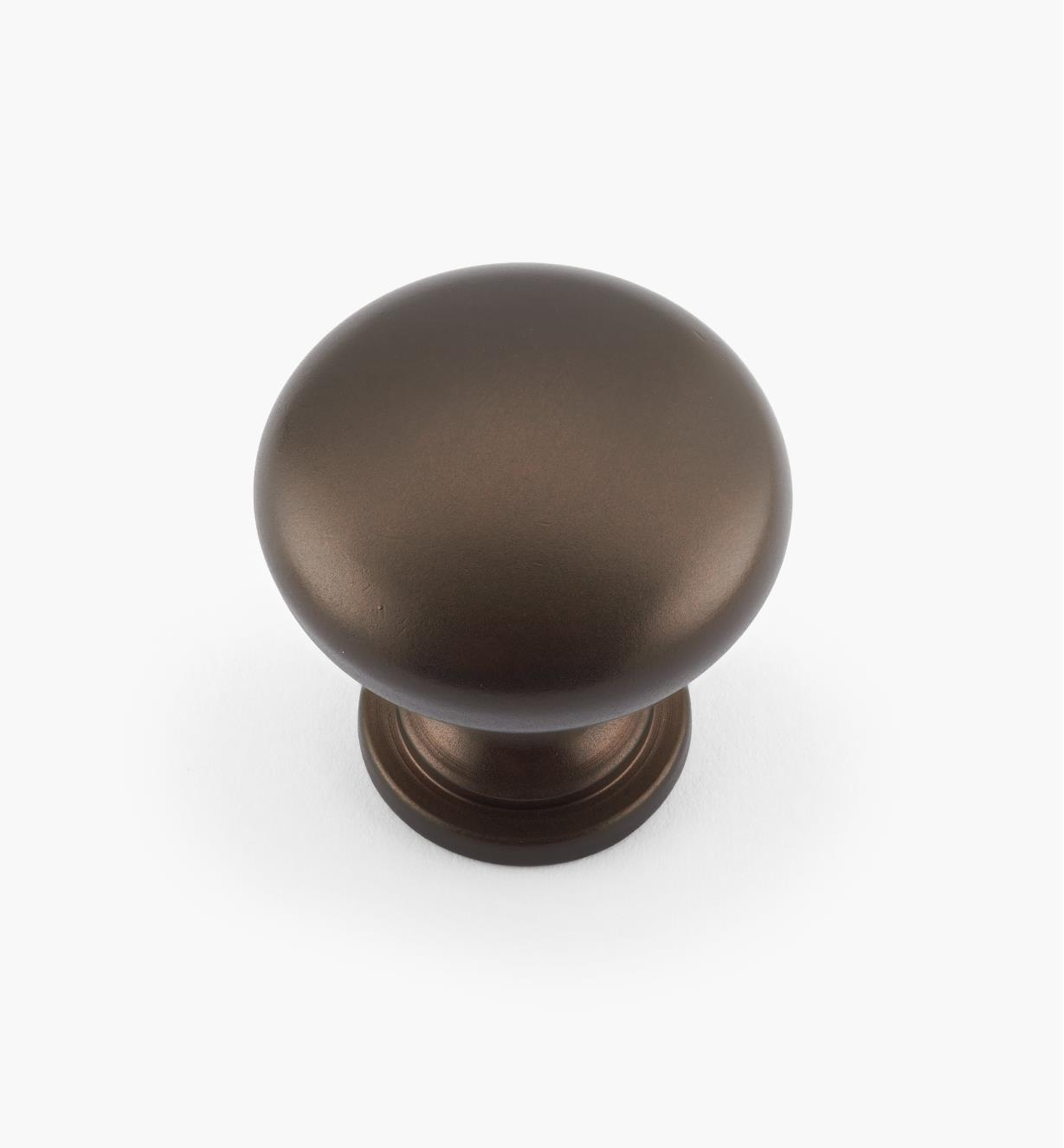 "02W4085 - 1 3/16"" x 1 3/16"" Oil-Rubbed Bronze Round Knob"