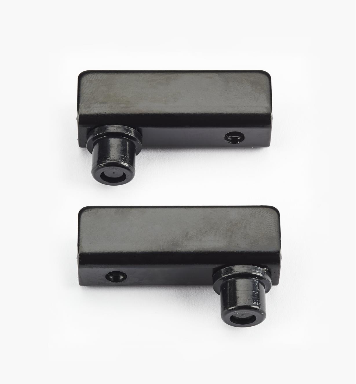 00W0403 - Black Pin-Pivot Hinges, pair