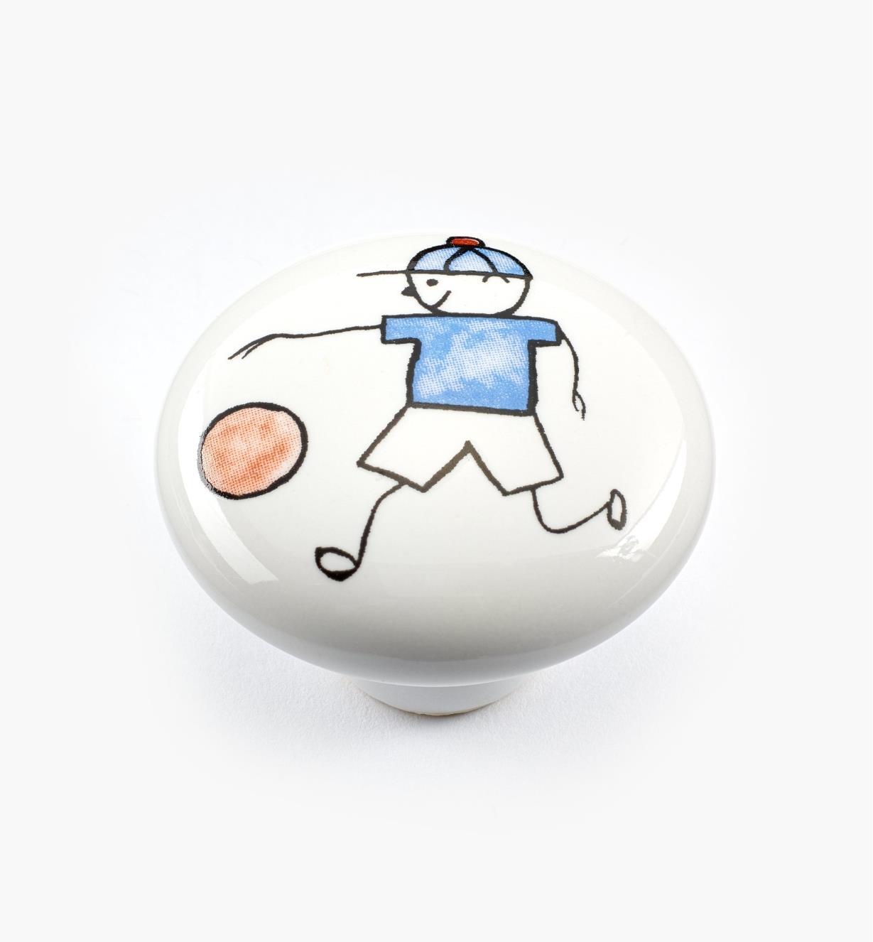00W5312 - Bouton pour tout-petits, basketball, 11/2po