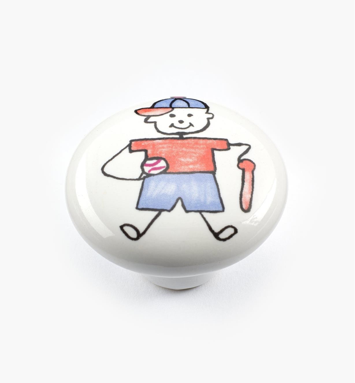 00W5313 - Bouton pour tout-petits, baseball, 11/2po