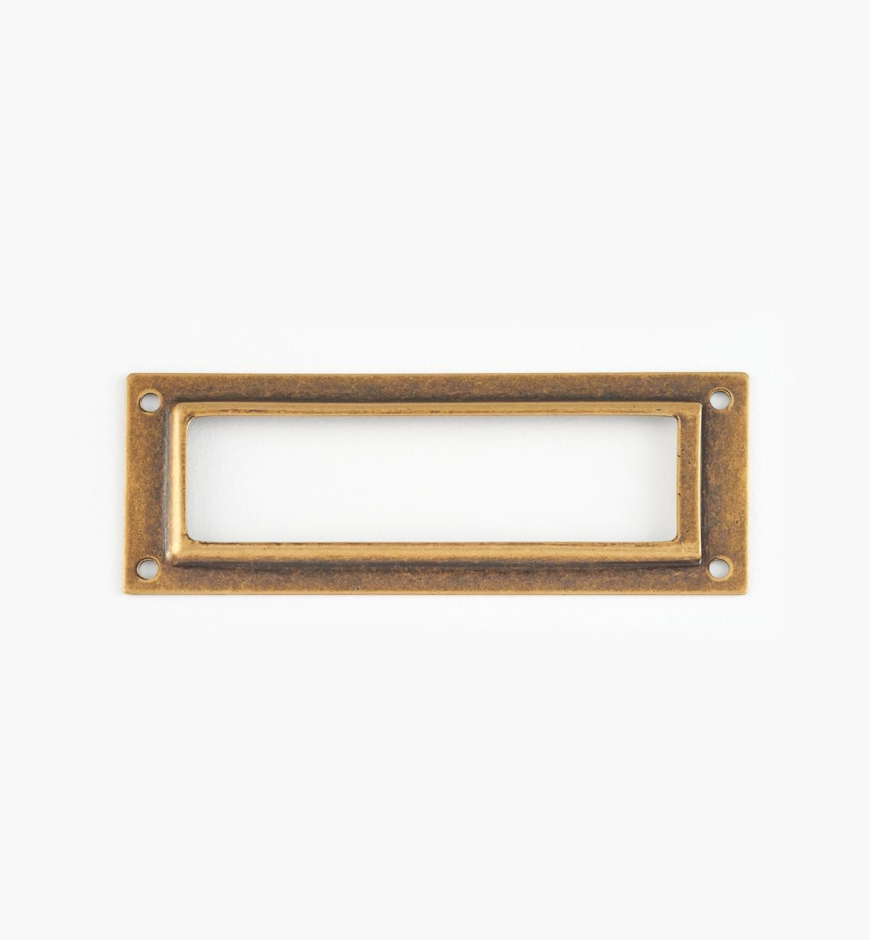 01A5792 - Antique Brass Label Holder