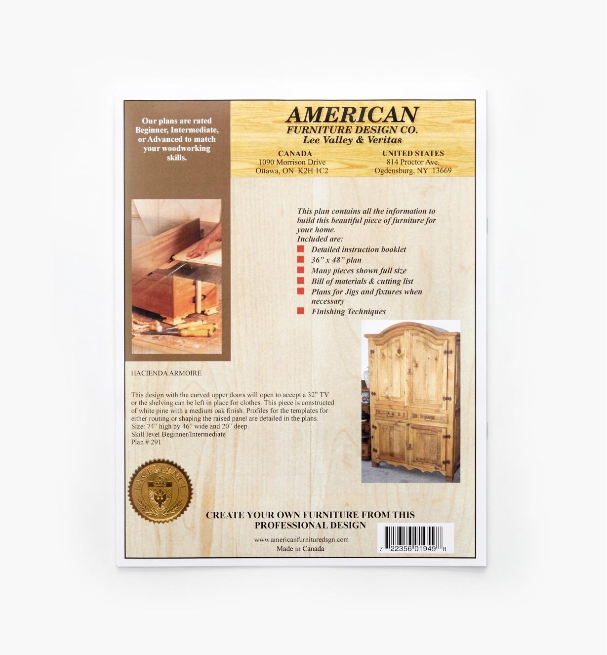 01L5094 - Hacienda Armoire Plan