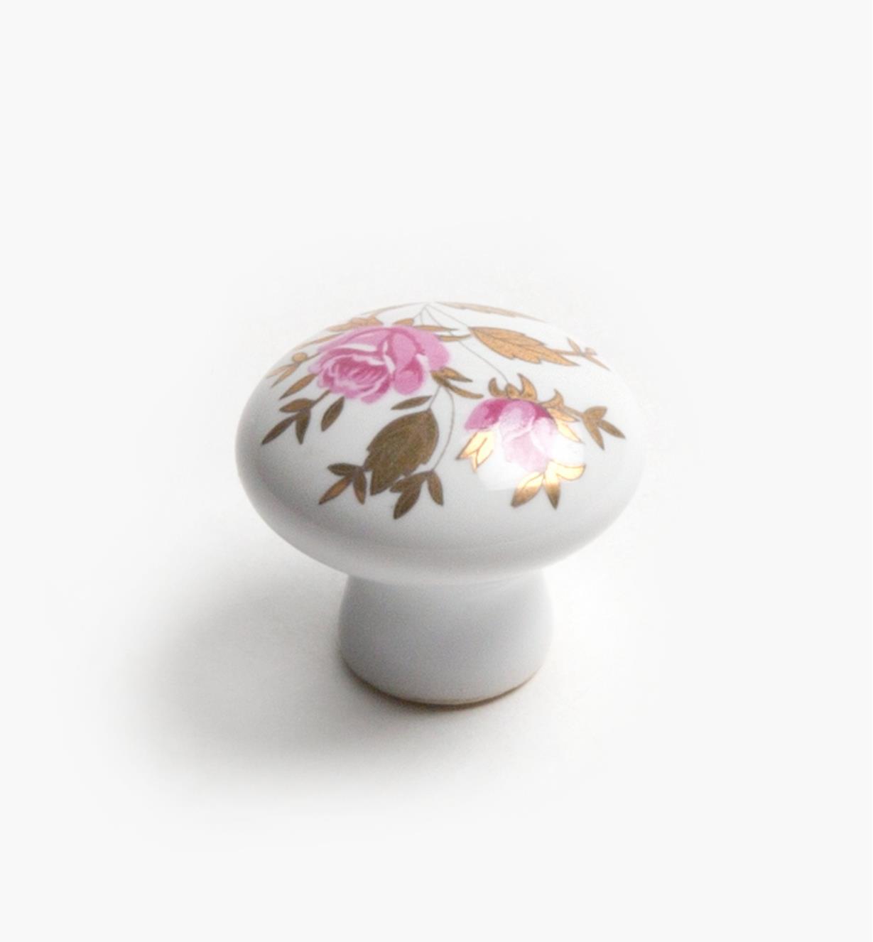 "03W1636 - 1"" x 7/8"" Floral Knob, ea."