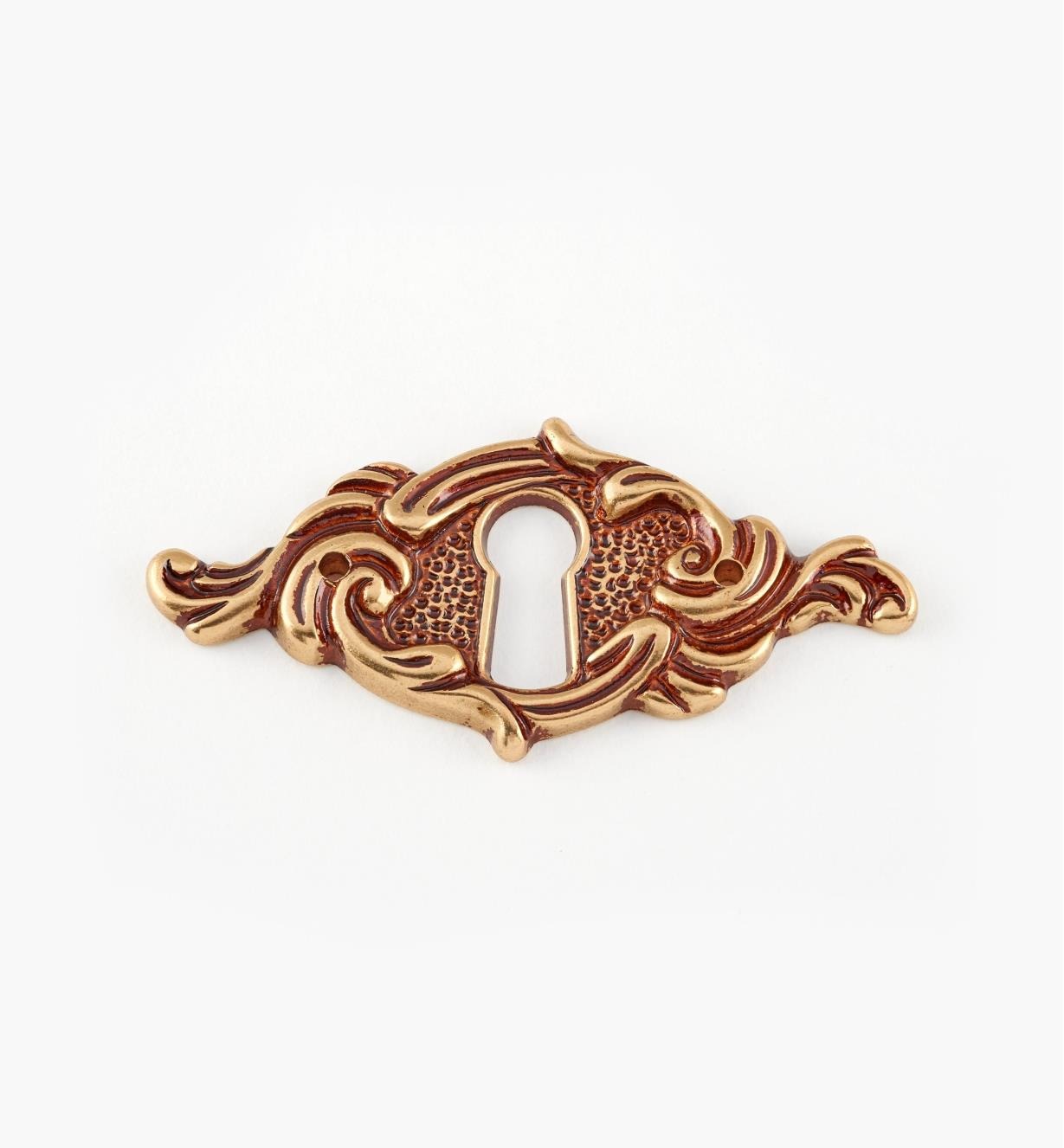 01A5360 - 62mm Louis XV Horizontal Escutcheon
