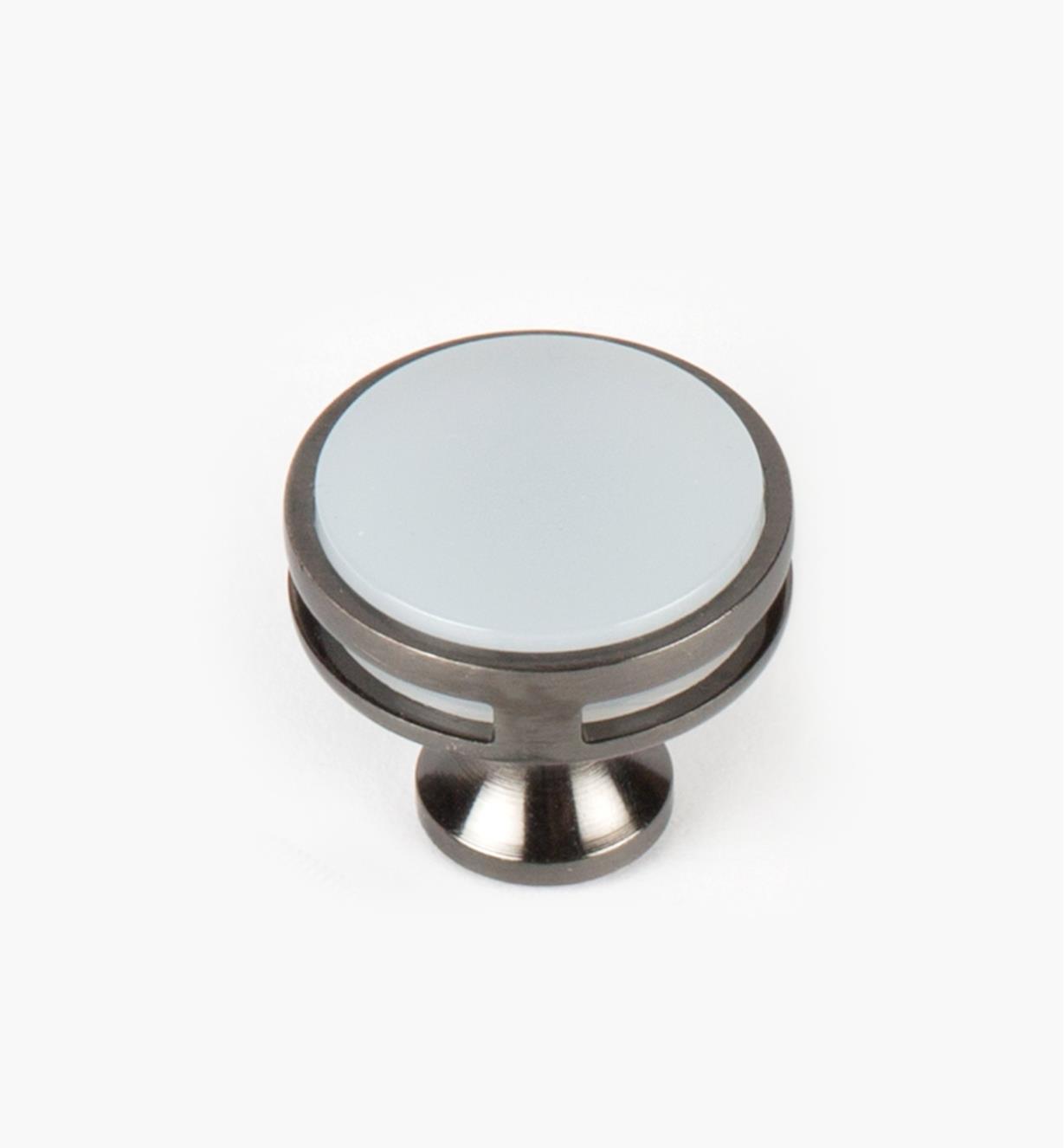 "02A1466 - Oberon Gunmetal / Acrylic 1 3/8"" Knob, each"