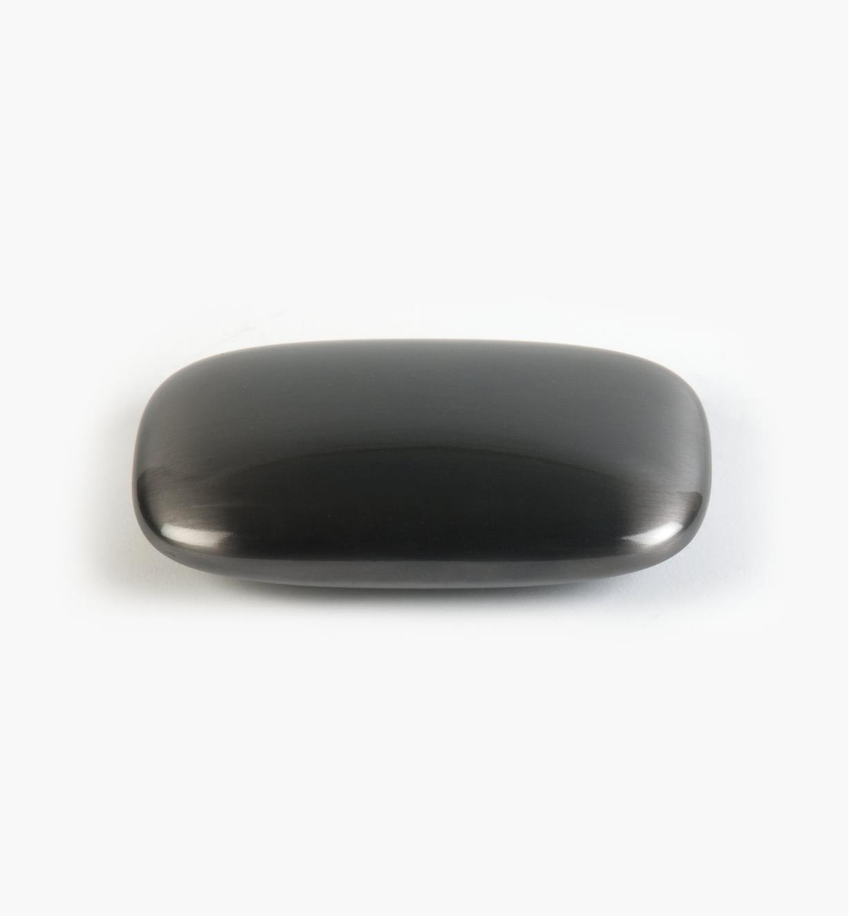 01G1622 - 64mm Rect. Black Nickel Stone Pull
