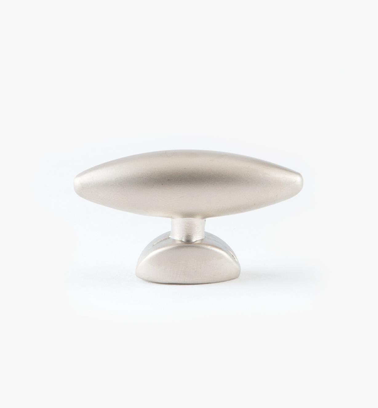 "03W2278 - 1 5/8"" x 15/16"" Small Oval Pearl Nickel Knob, each"