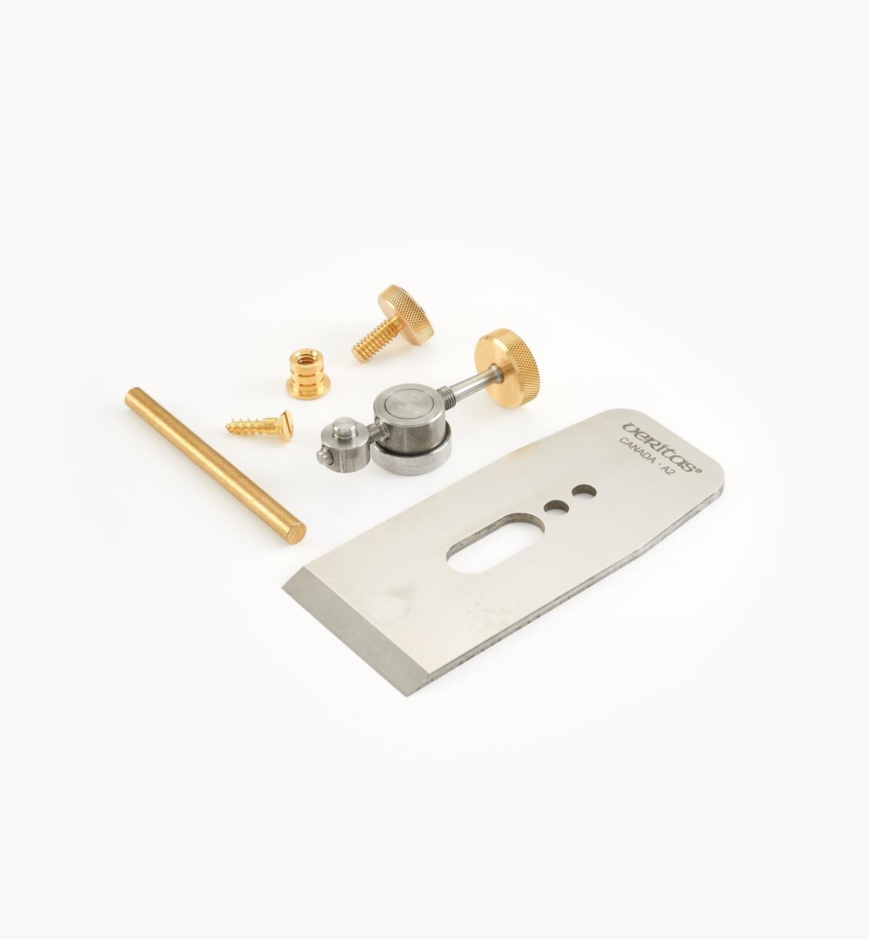 """05P4051 - Veritas 2"""" Wooden Bench Plane Hardware Kit, A2 Blade"""