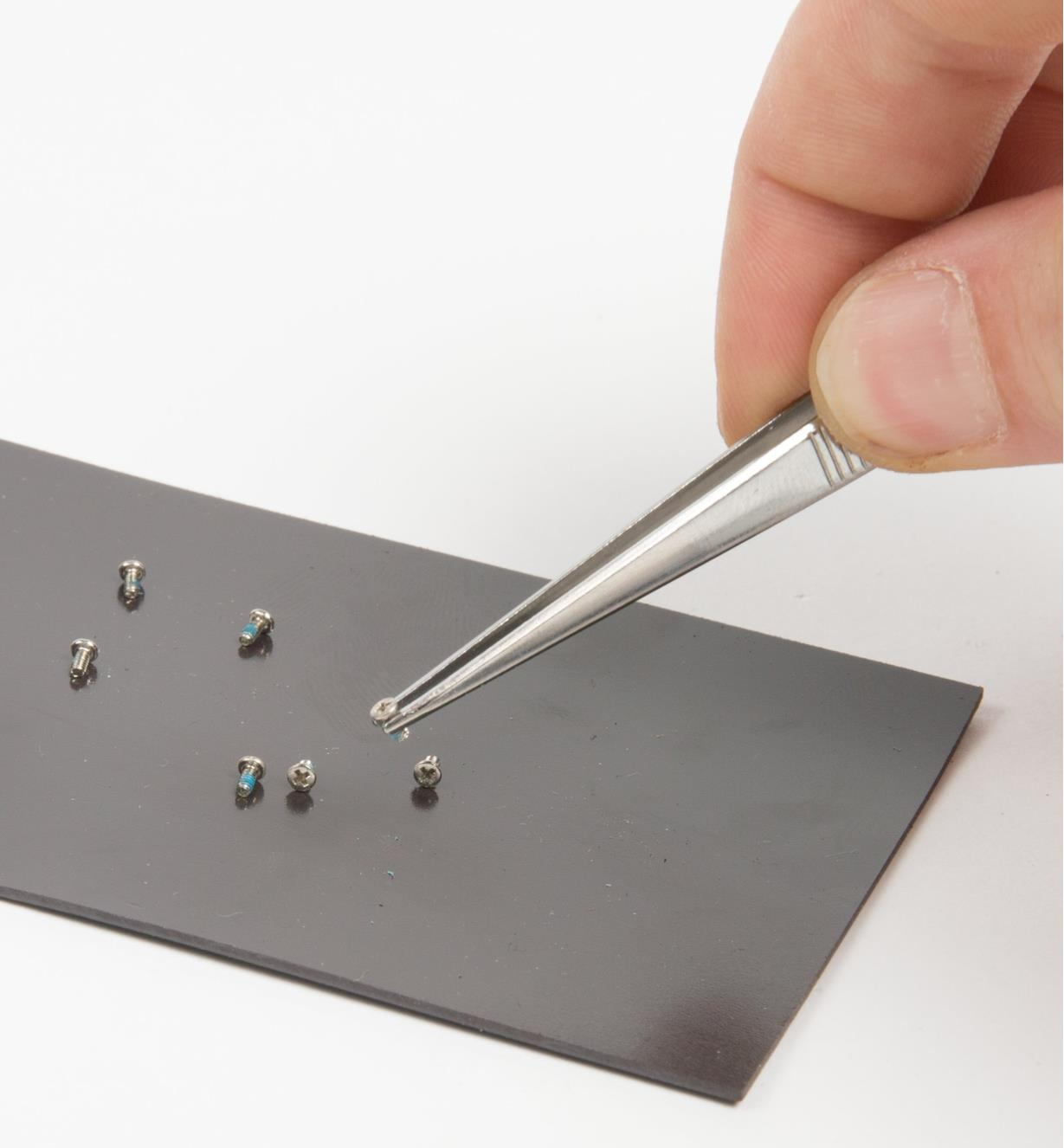"2 3/4"" x 5"" magnetic pad for screws and small ferrous parts included with 51-Piece Micro-Tool Set"