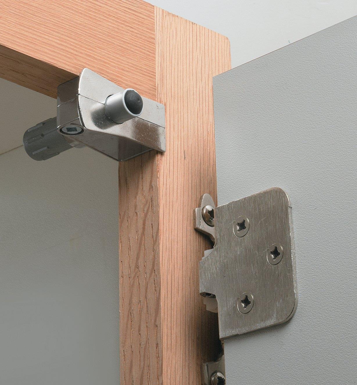 Door Damper installed in a cabinet door frame