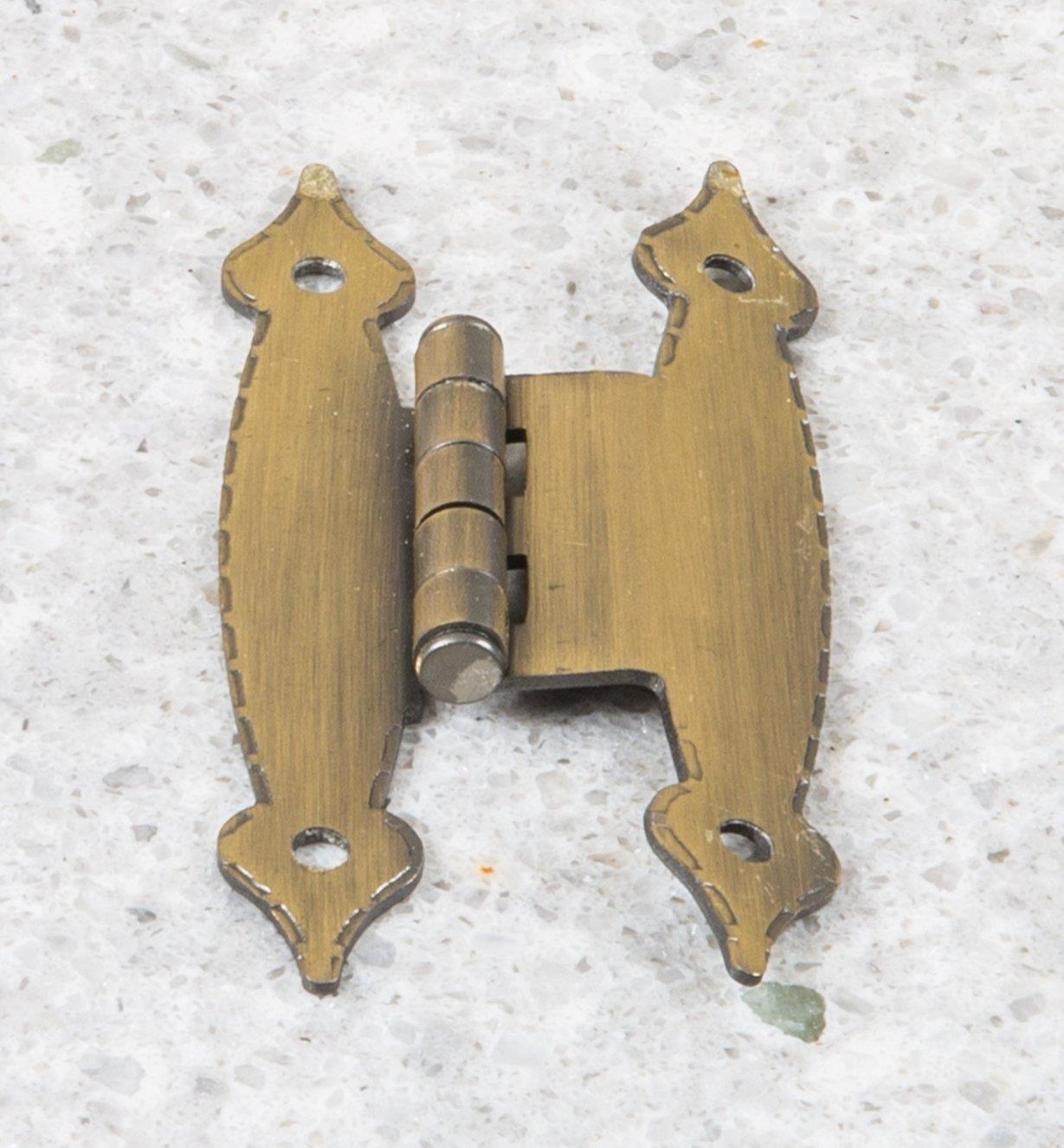 03W1210 - Charnières Palace, laiton antique, 1 3/16 po x 31/2 po, la paire
