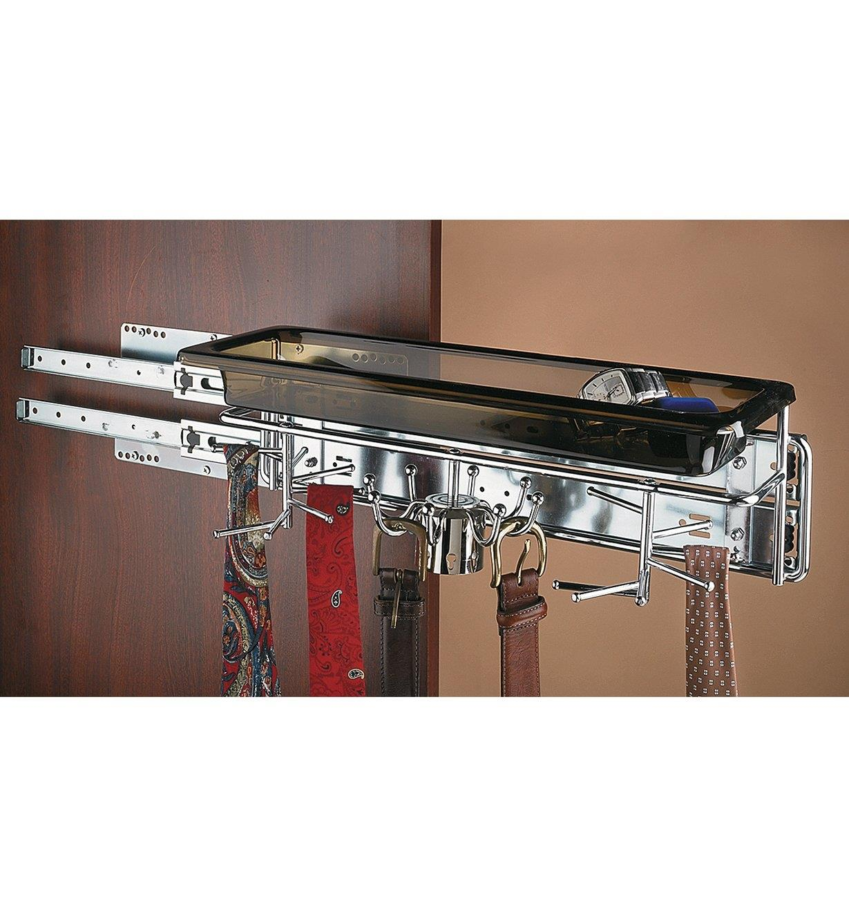 12K2055 - Large Belt & Tie Rack with Tray