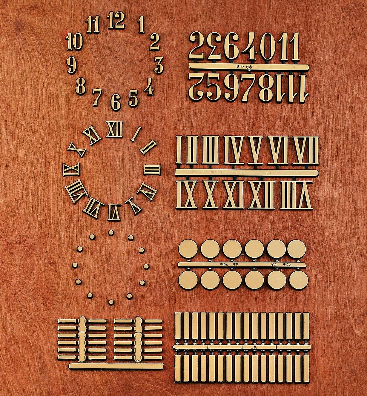 Adhesive-Backed Numerals, Dots & Bars
