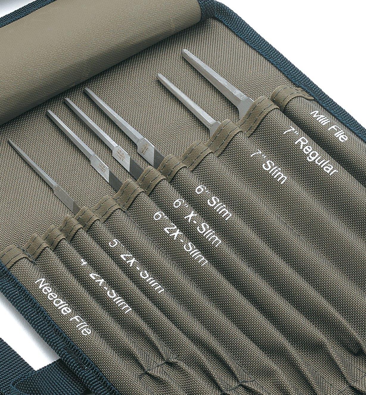 62W3320 - 6-Pc. Saw-Sharpening File Set & Storage Roll