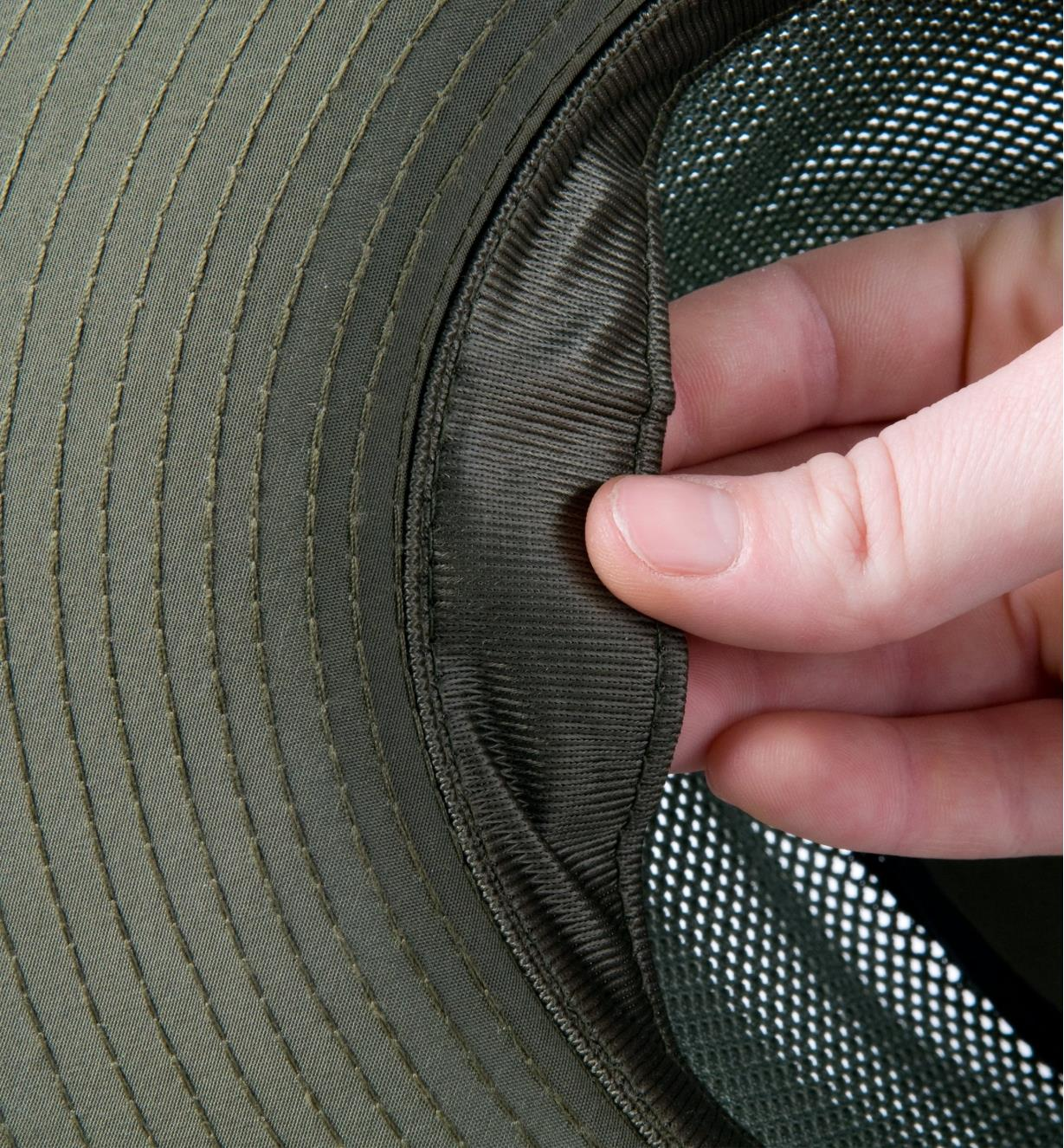 Close-up of Coolmax sweatband