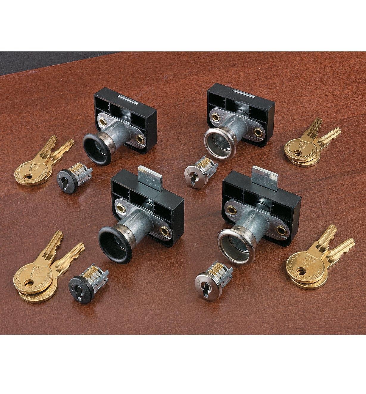 Back-Mount Drawer Locks