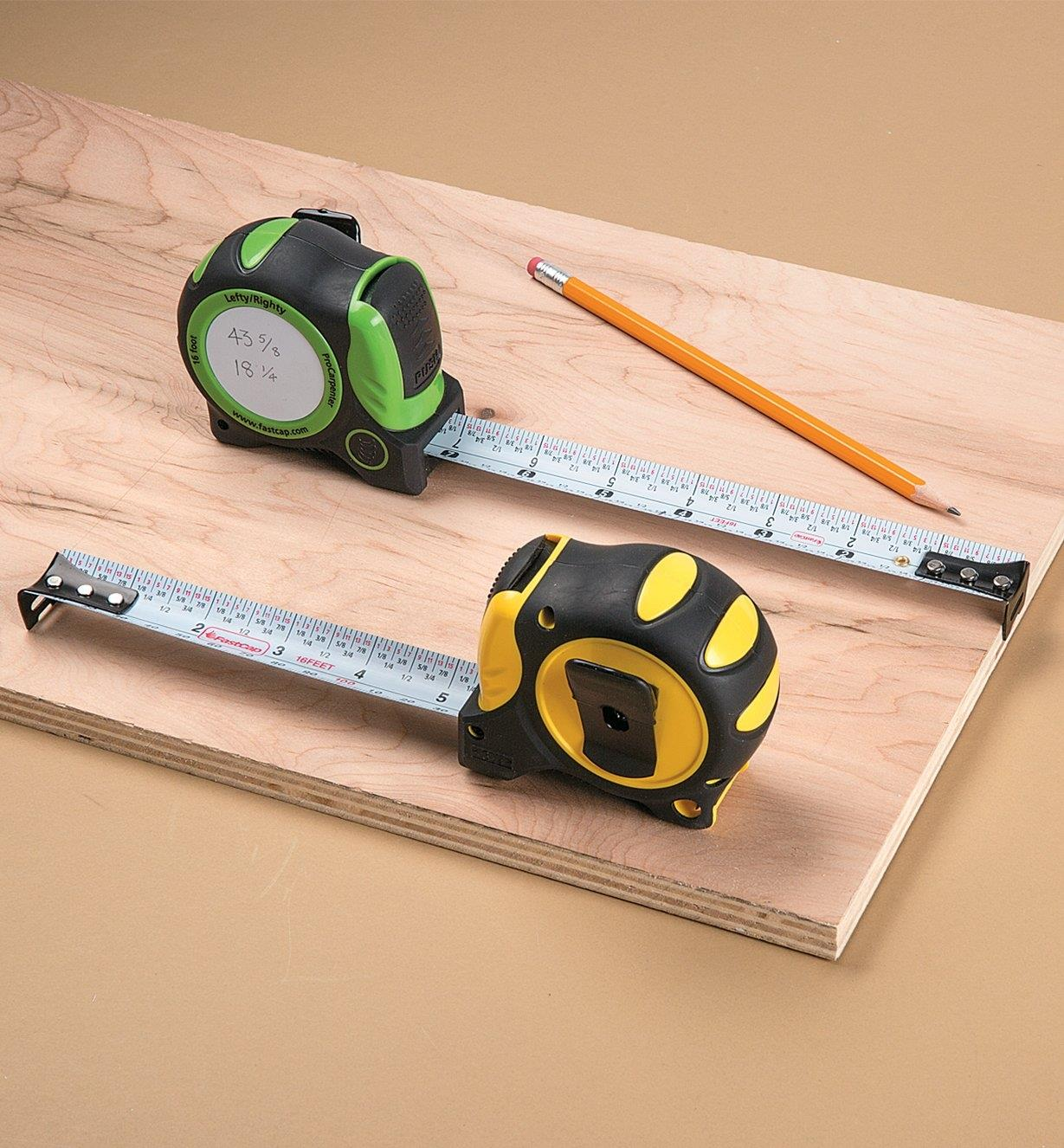 Auto-Lock Write-On Measuring Tapes
