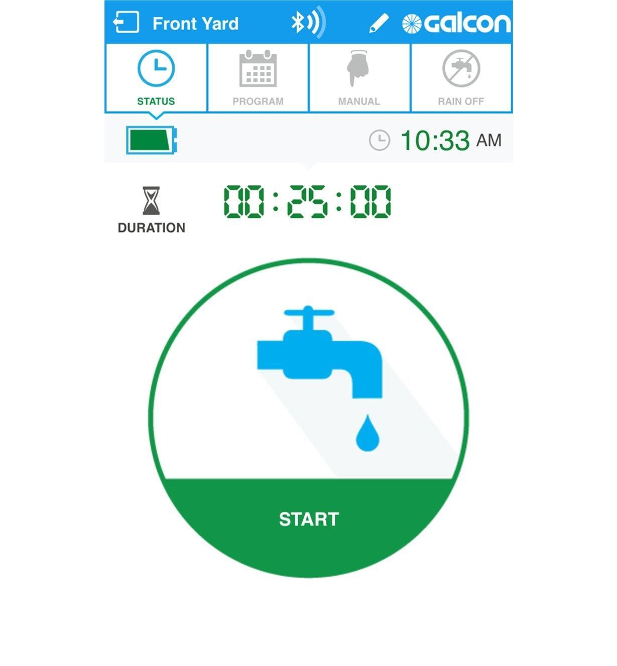 Screenshot of water timer app