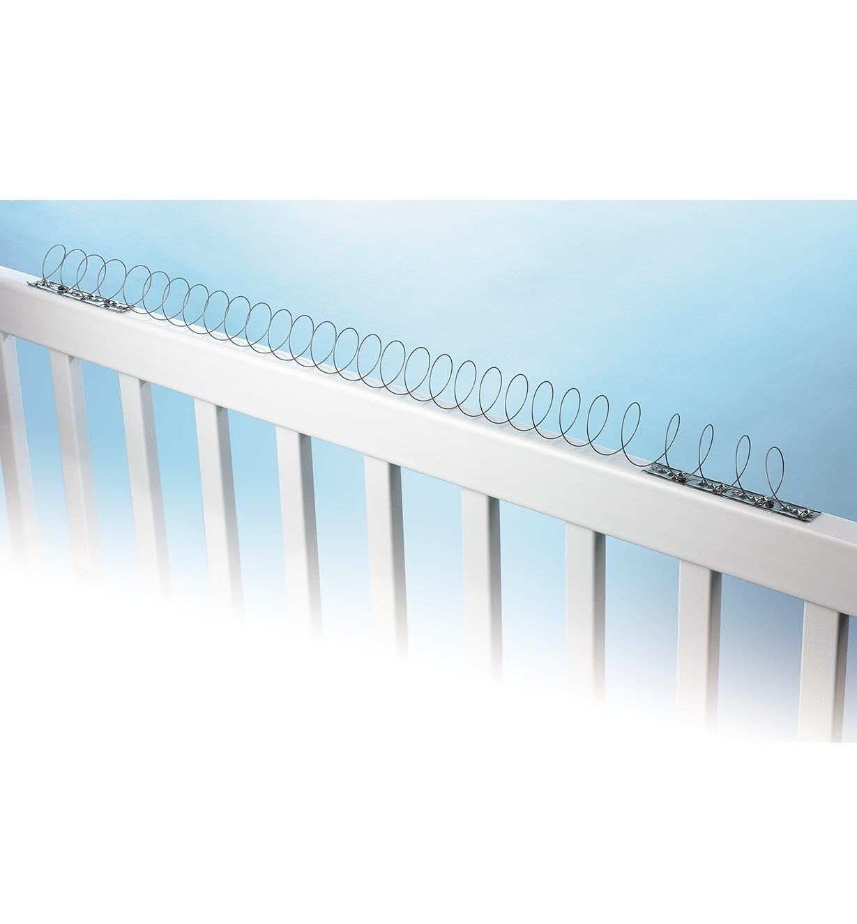 Flexible coil installed on railing
