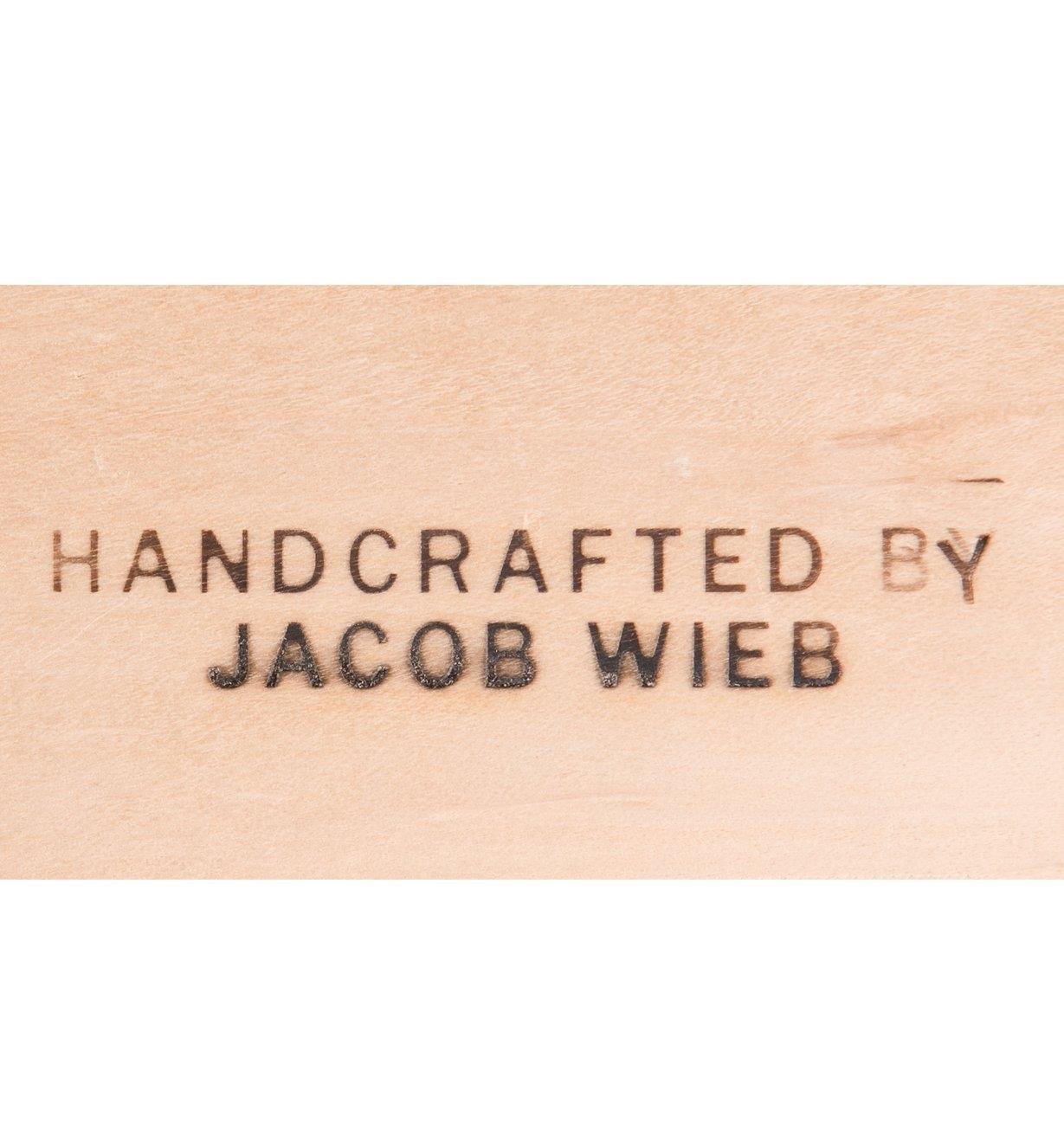05N4005 - Fer à marquer électrique «HANDCRAFTED BY»