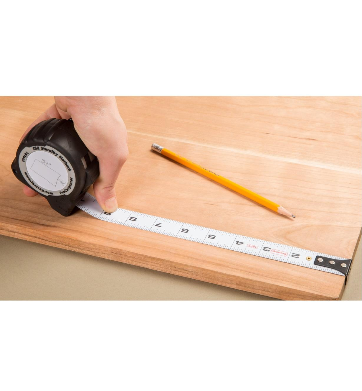 Measuring the width of a board