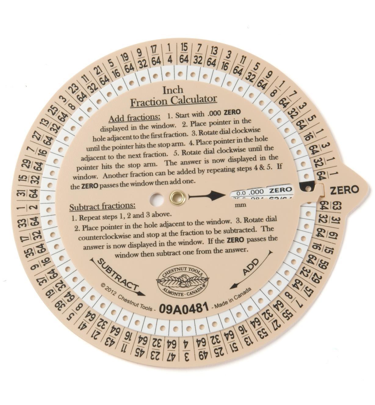 09A0481 - Fraction Calculator Wheel