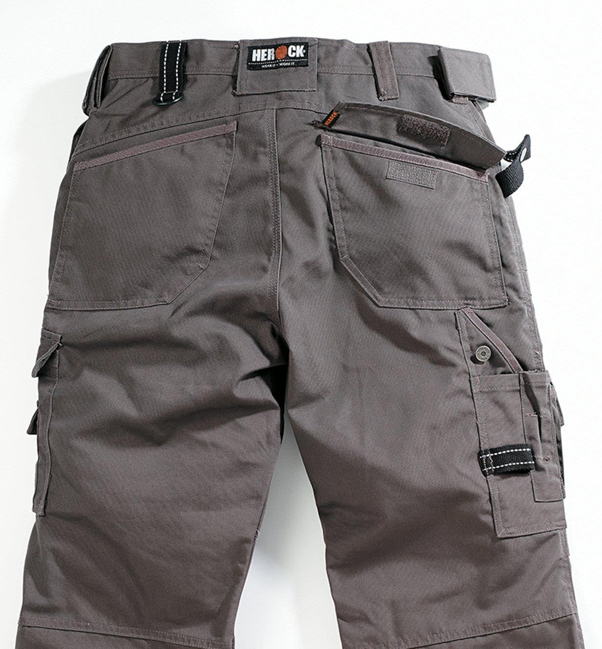 Back view of Gray Medium-Weight Pants
