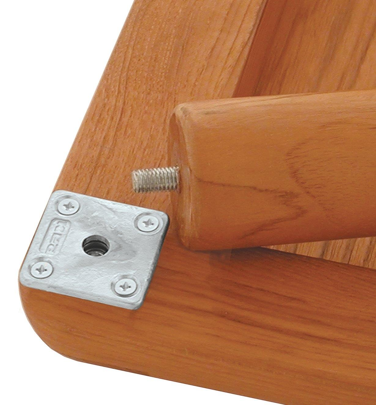Plaques de fixation pour pattes de meuble