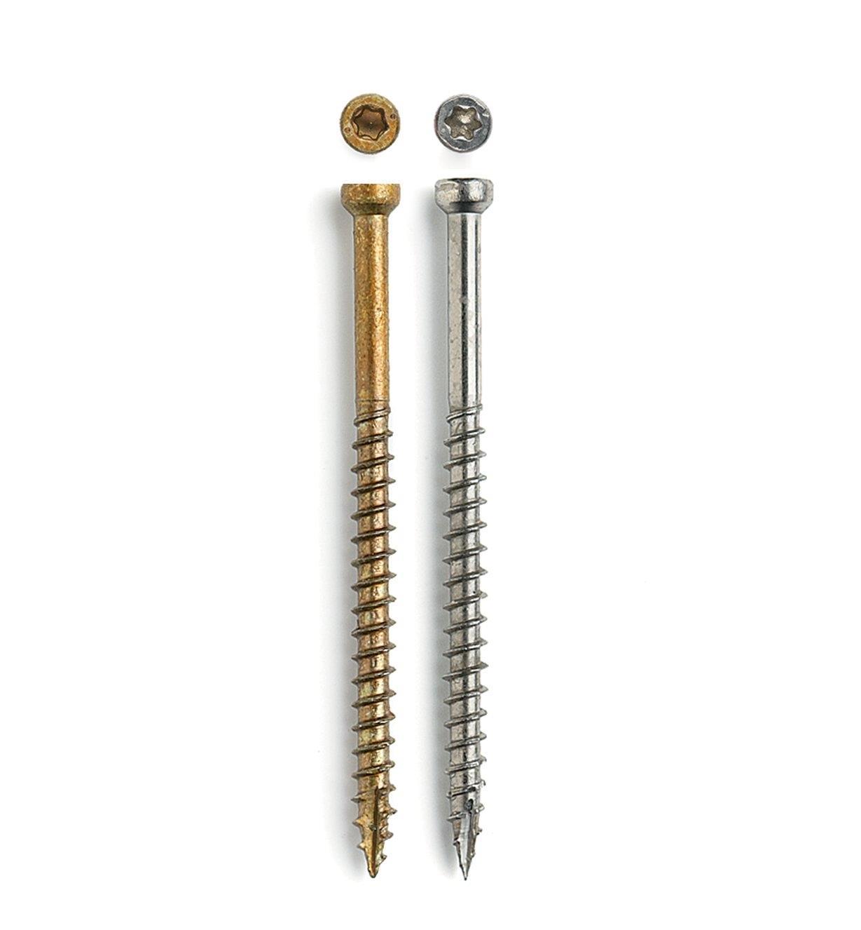 """93Z0462 - #8 x 1 1/2"""", Fin/Trim Screws, Stainless Steel/Pheinox, pkg. of 100 (incl. T-10 bit)"""