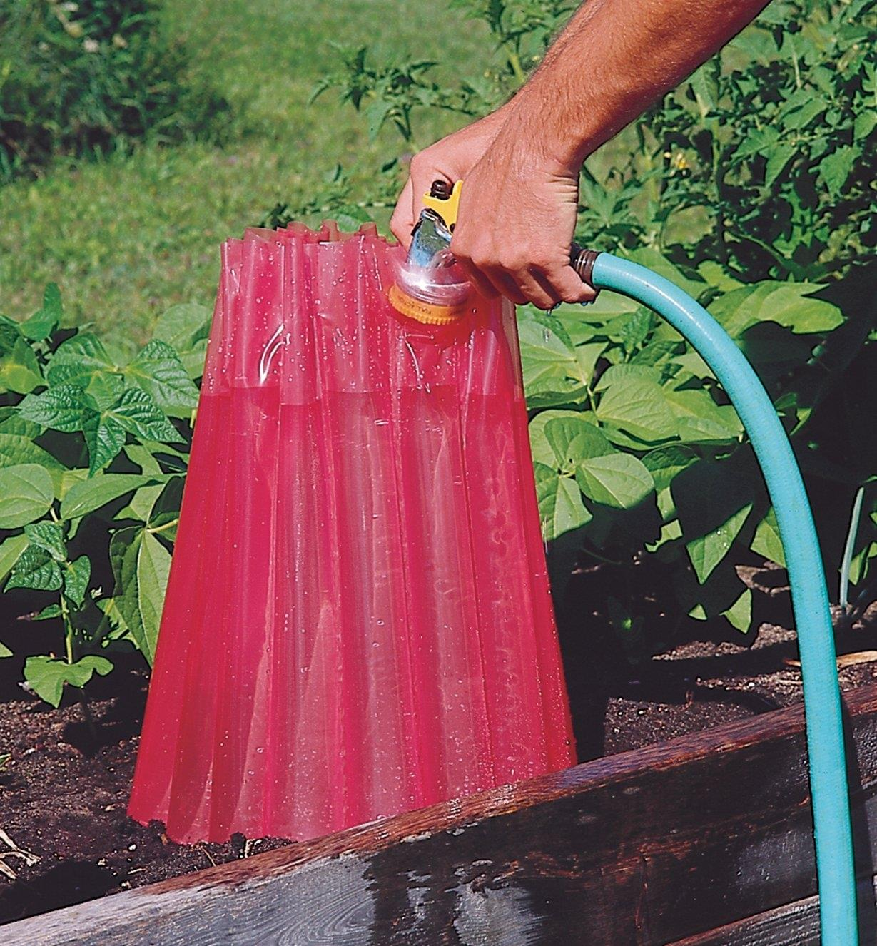 Filling a Frost Protector with water from a hose