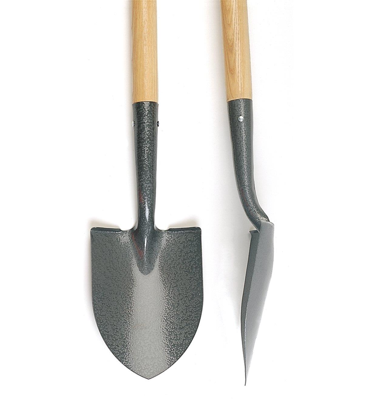 Front and side views of the Floral Shovel blade