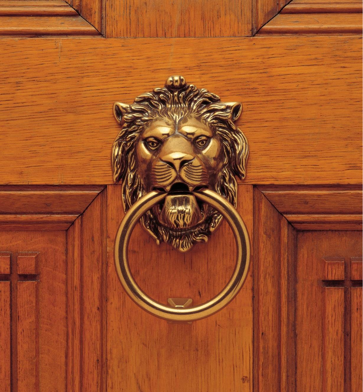 01A0195 - Lion's Head Door Knocker