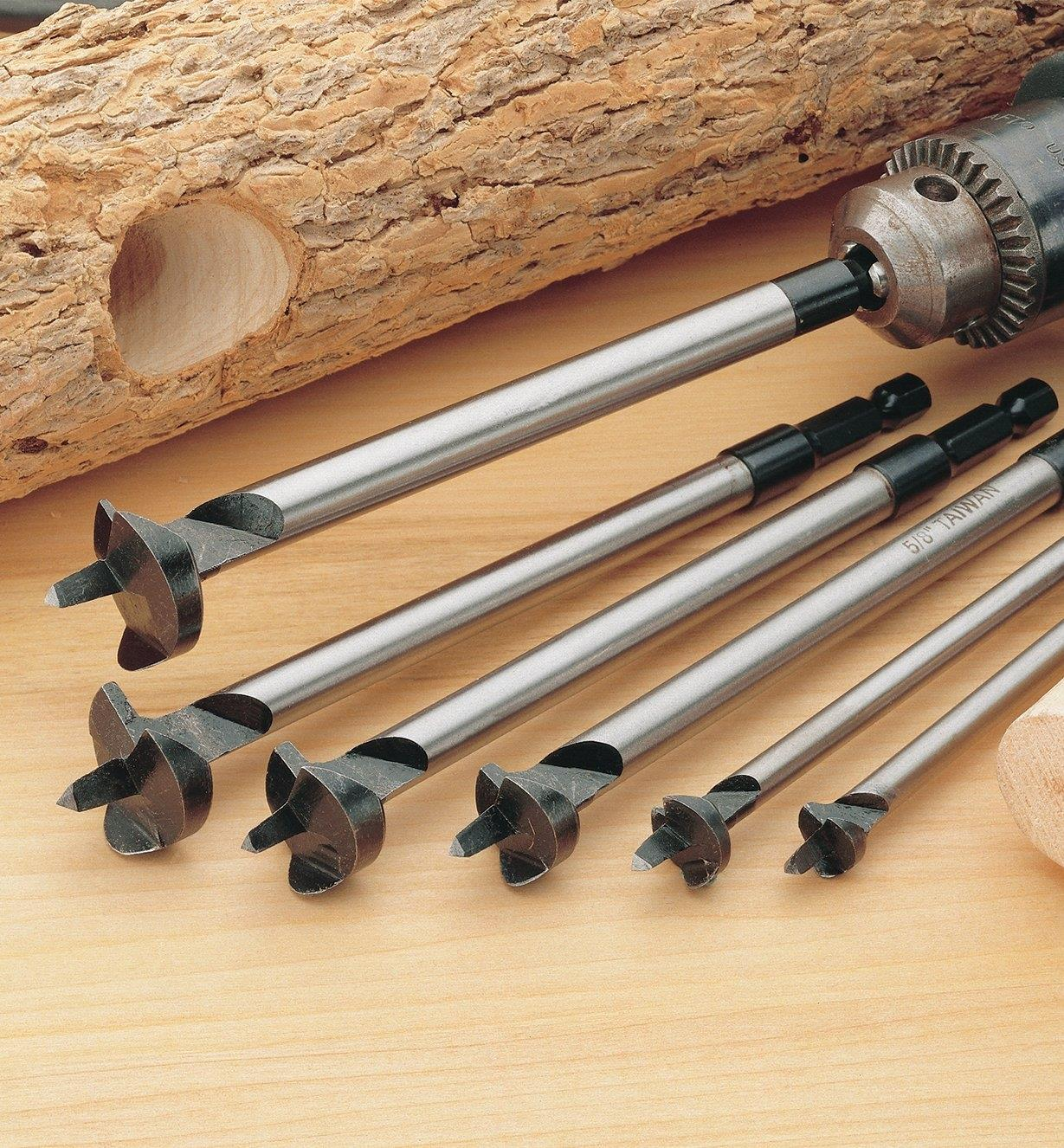 07J3140 - Set of 6 Greenwood Bits