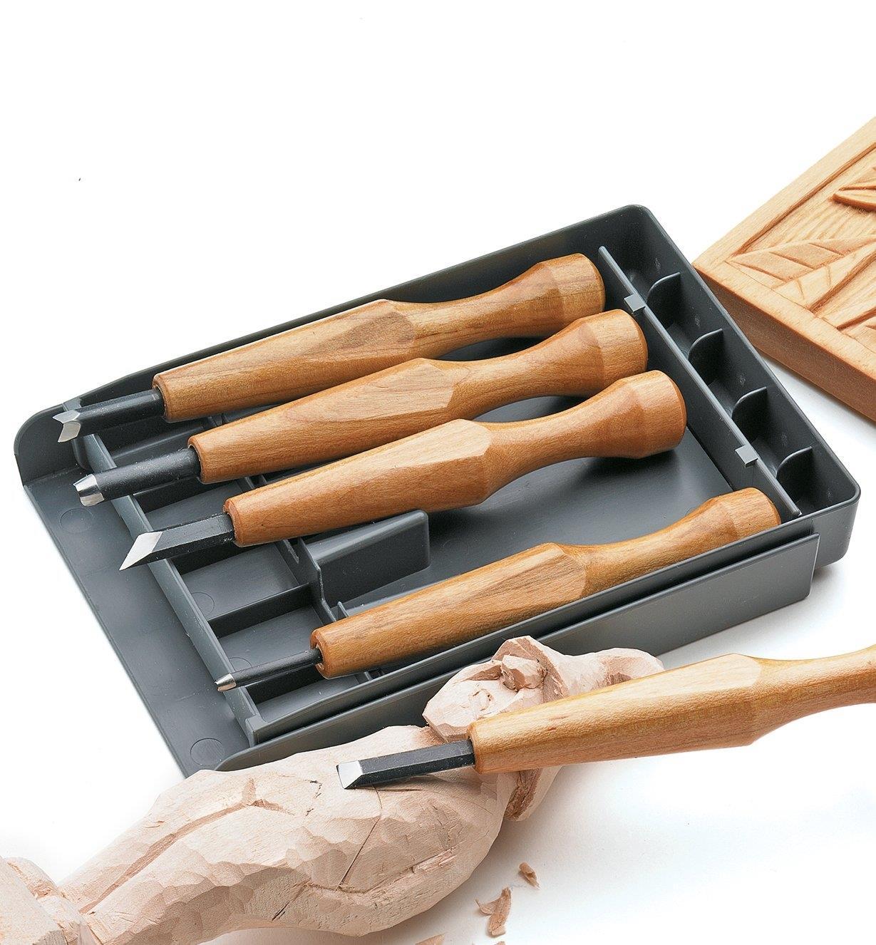 44D1005 - Jeu de 5 outils pour la sculpture de détails