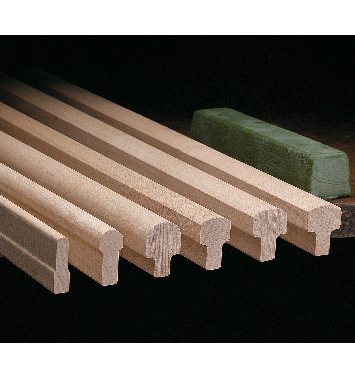 50M0101 - Lee Valley Wooden Sharpening Slips, set of 6