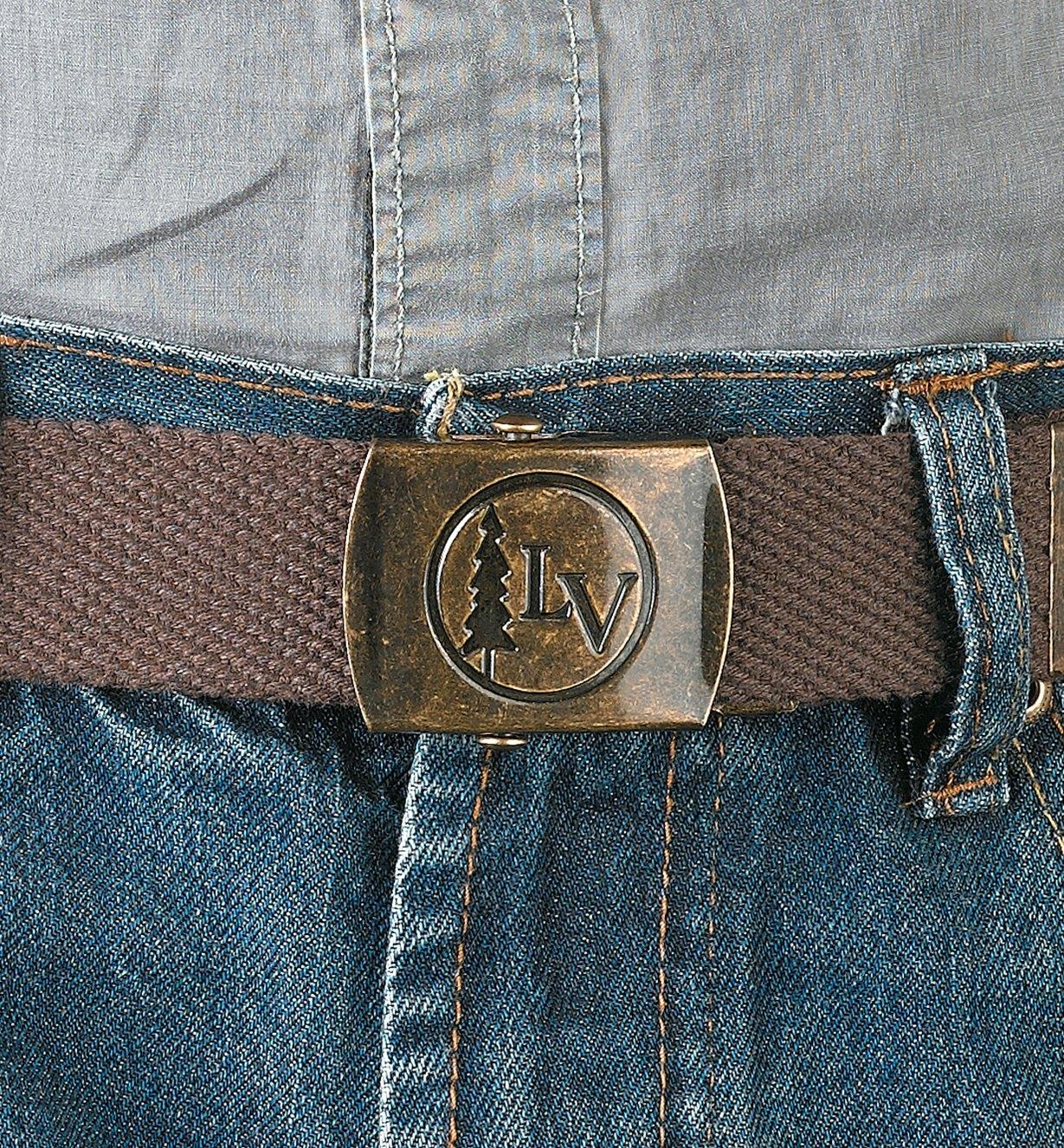 Brown Lee Valley Belt worn with a pair of jeans