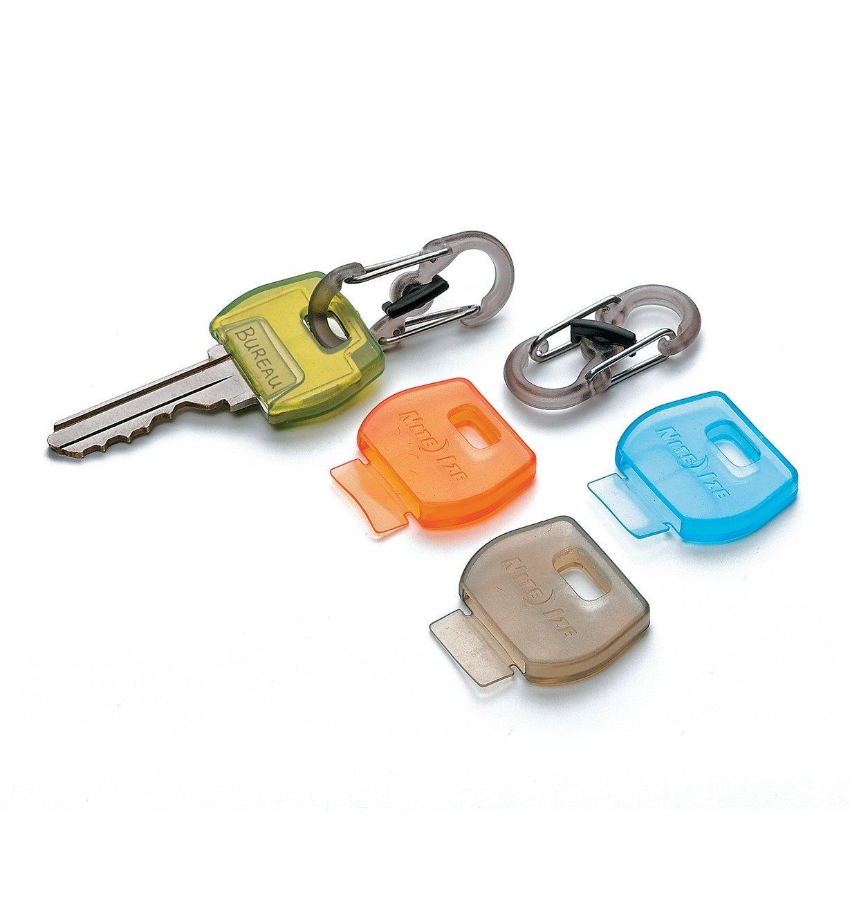 68K0764 - Jeu de 4 couvre-clés IdentiKey et 2mousquetons