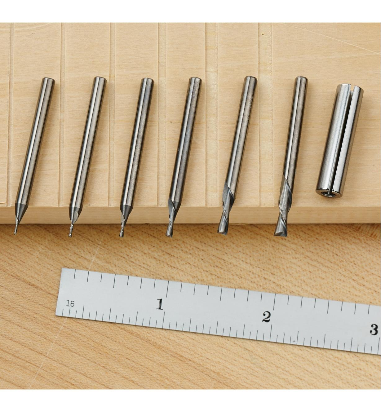 Mini Downcut Spiral Bits