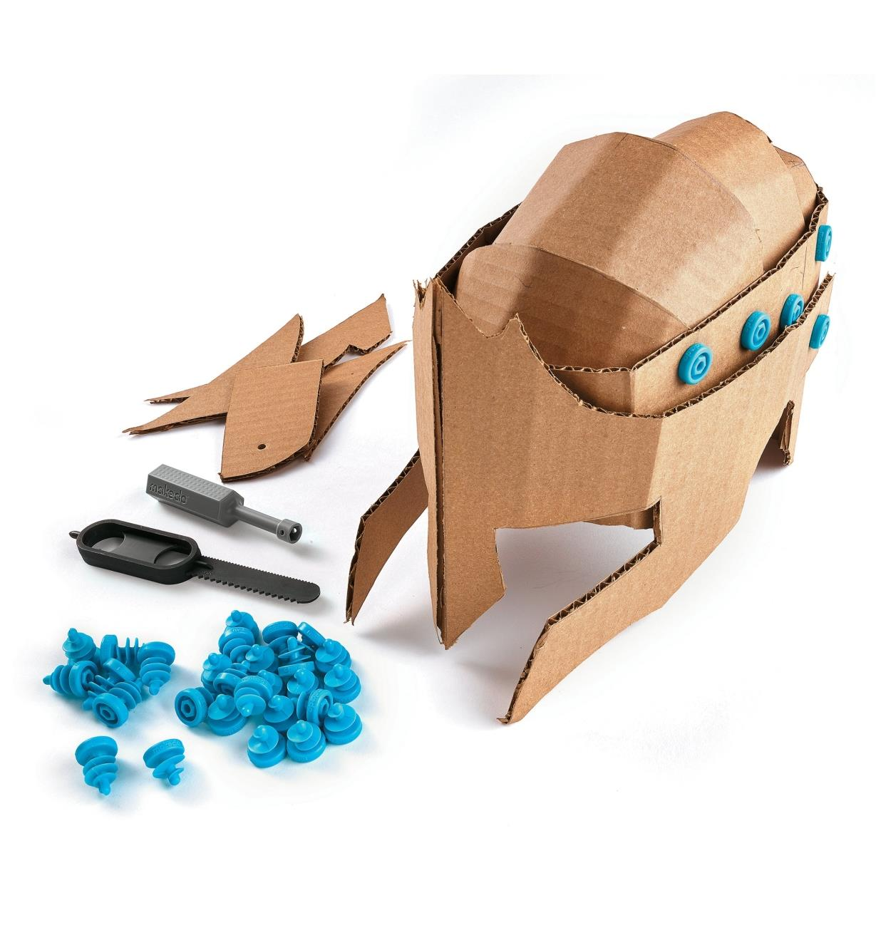 Jeu de construction pour carton ondulé Makedo