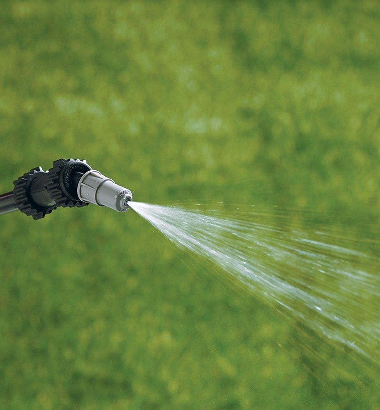 Garden Sprayer wand using the spray setting