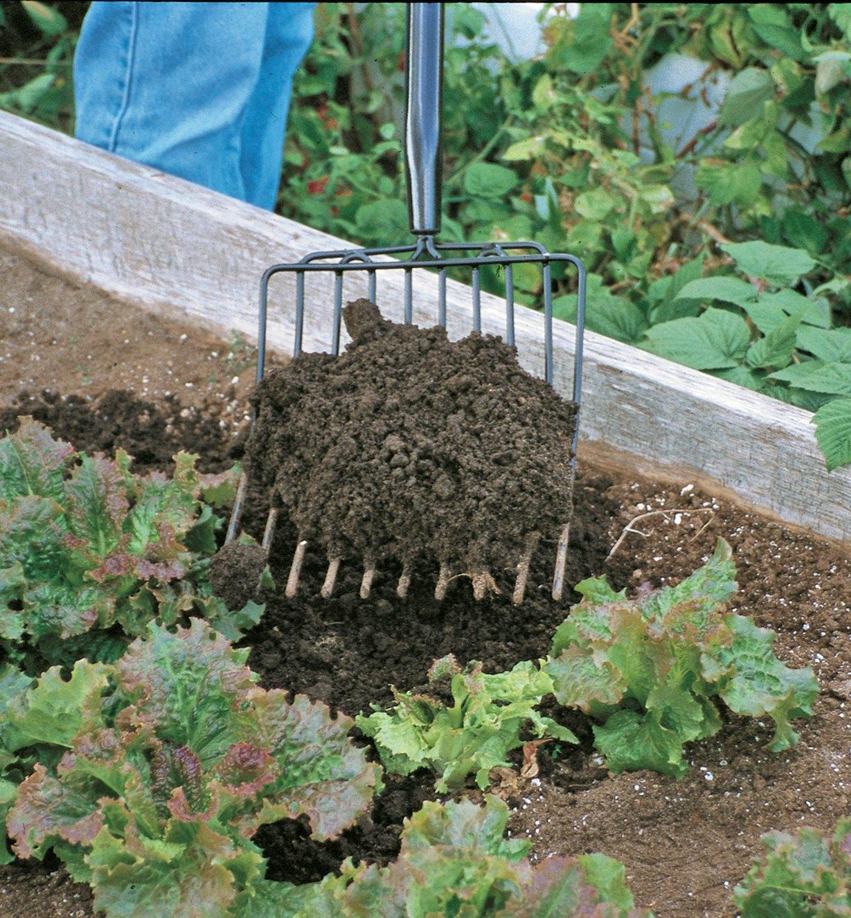 PD223 - Fourche à compost et à paillis Lee Valley