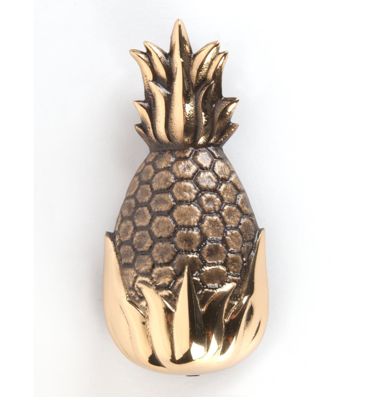 00W0814 - Polished Brass Pineapple Door Knocker