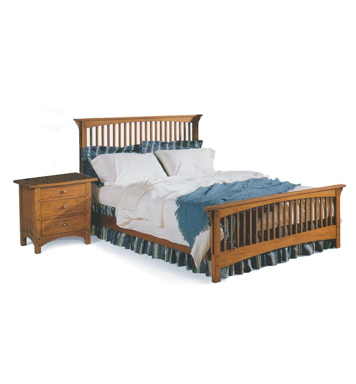 01L5018 - Mission Bed & Nightstand Plan