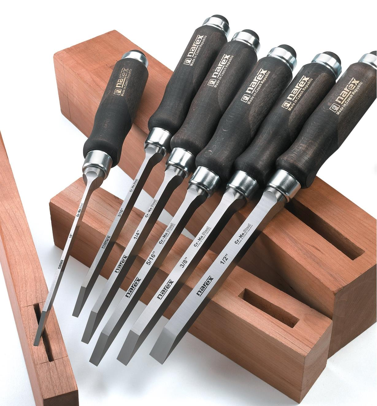 "10S0941 - Narex Mortise Chisels, set of 6 (1/8"" - 1/2"")"