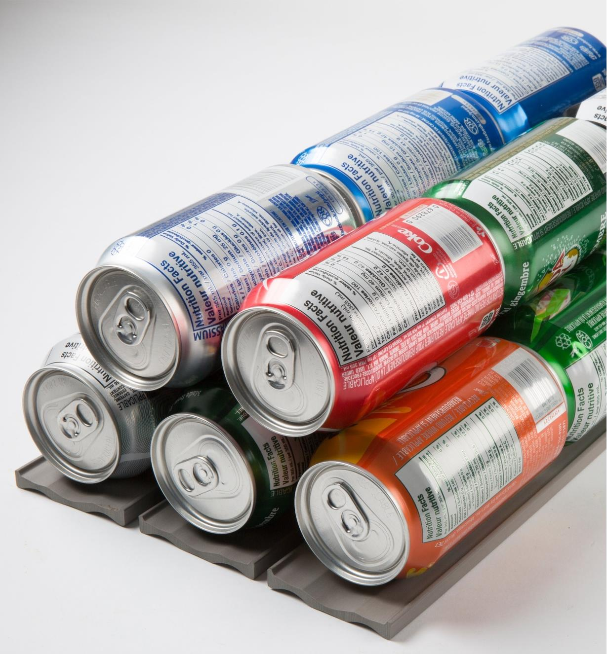 Neoprene Storage Liners holding a stack of pop cans
