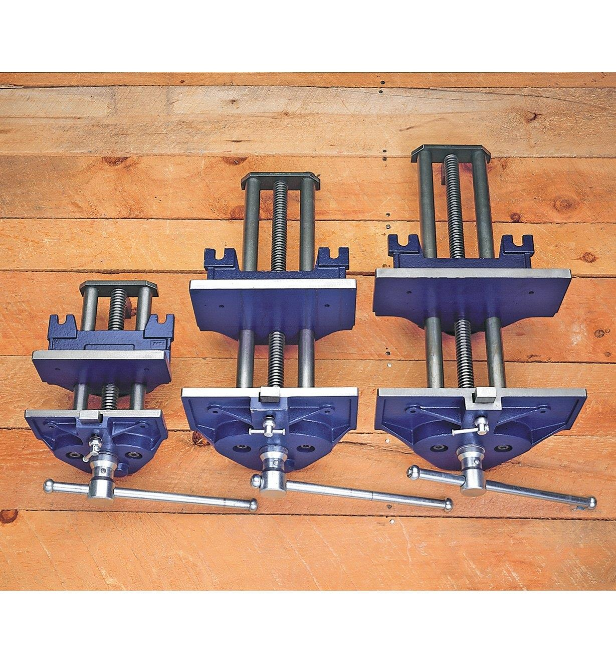 Quick-Release Steel Bench Vises